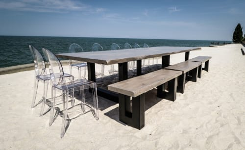 Tables by Michael Difazio Reclaim Artistry seen at Private Residence, Lakeshore - Beach Banquet Table