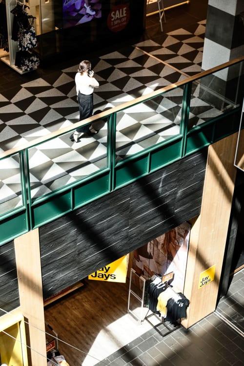 Interior Design by Kennedy Nolan seen at Melbourne Central, Melbourne - Melbourne Central Arcade & Bridge