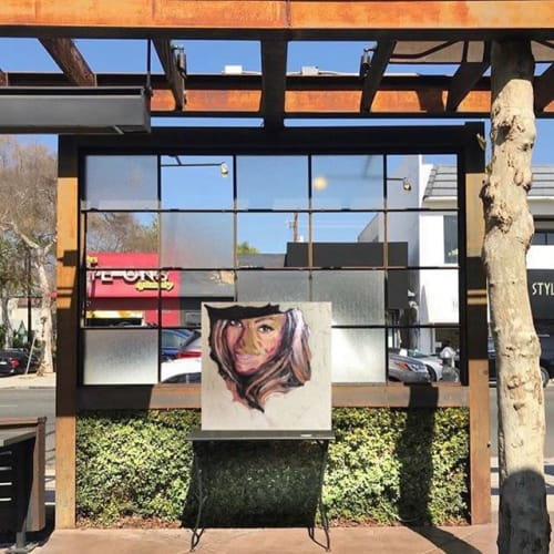 Paintings by Alessandro Masera seen at Melrose Avenue, Los Angeles - IconEarthquake Beyonce