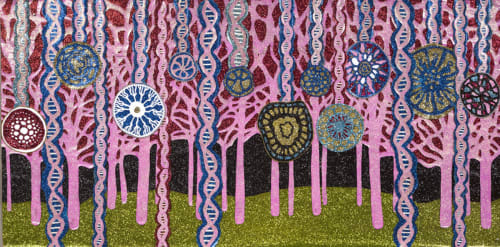 "Paintings by Dylan Mortimer seen at Private Residence, Denver - ""DNA Forest"""