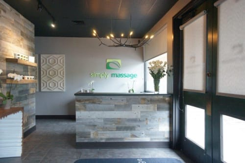Chandeliers by CP Lighting at Simply Massage, Breckenridge - newGROWTH Chandelier