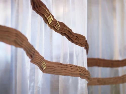 Wall Hangings by MAKI YAMAMOTO TEXTILE STUDIO seen at Private Residence, New York - ENN sheer panels
