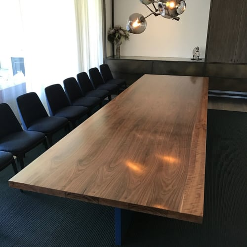 Tables by Zabo Design seen at Private Residence - Black walnut dining table