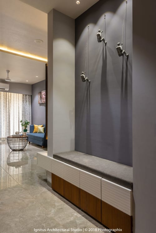 Interior Design by Ignitus Architectural Studio seen at Private Residence, Ahmedabad - HOUSE AT A GLANCE - Apartment 102, A 104-Sq-Mt, 3-BHK Flat is Big on Luxury