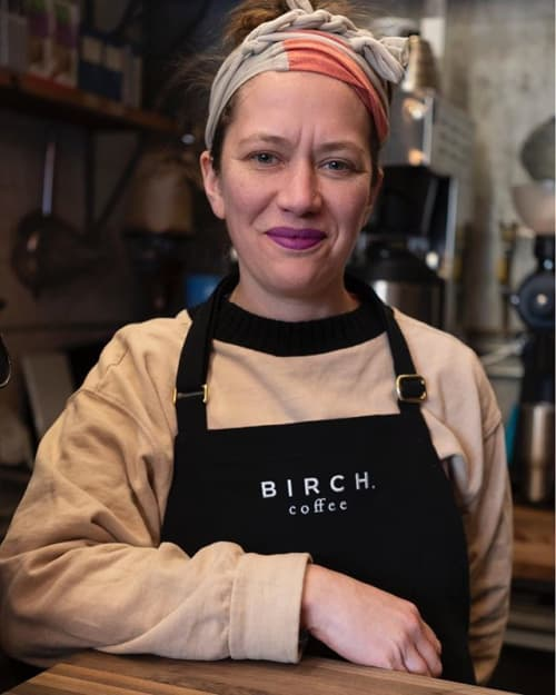 Aprons by BoWorkwear seen at Birch Coffee, New York - Birch Coffee Organic and Recycled Aprons