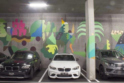 Street Murals by FIKARIS seen at Oakleigh, Oakleigh - Local Shades
