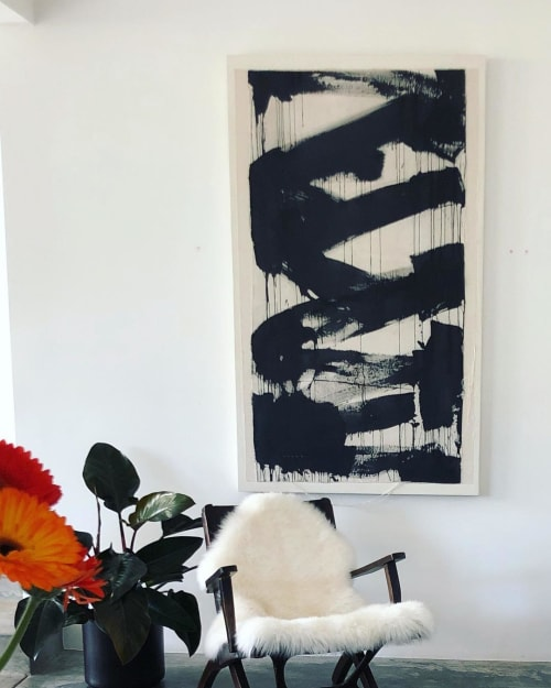 Paintings by Monica Perez Art seen at Private Residence, Los Angeles - Night Cap