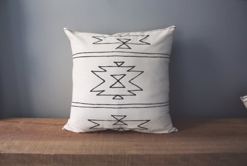 """Pillows by Little Korboose seen at Private Residence, Joshua Tree - """"New Mexico"""" Pillow"""