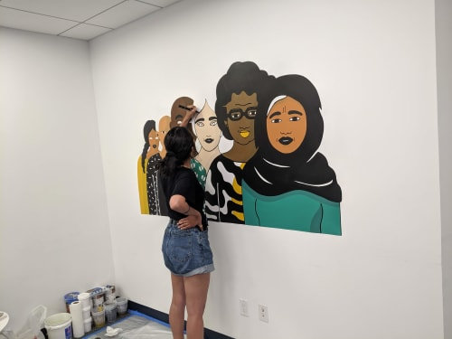 Murals by Vivian Rosas seen at New York, New York - Invisibility to Power Mural