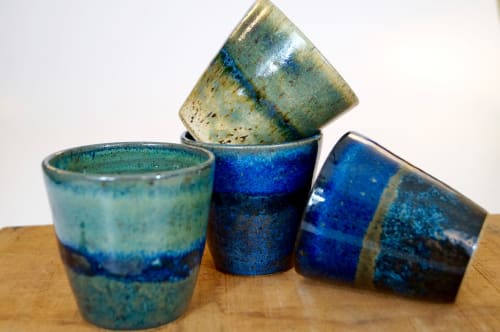 Cups by Honey Bee Hill Ceramics seen at Mad Dog Cafe, Pawtucket - Horizon Tumblers
