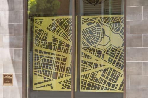 Street Murals by Modern Metal seen at Oakland, Oakland - Urban Geometries