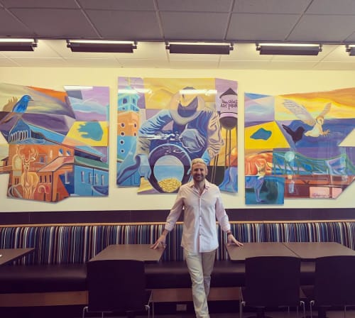 Murals by Bobby MaGee Lopez seen at King Soopers Marketplace, Arvada - Arvada