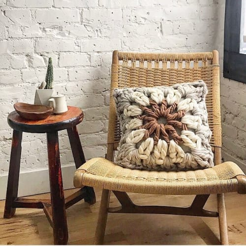 Pillows by Flax & Twine seen at Private Residence, Denver - Giant Granny Square Pillow