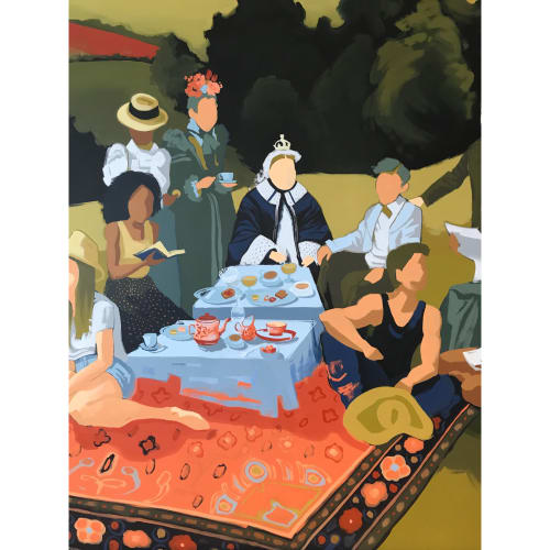 Murals by Leslie Ann Wigon Art & Design seen at Queensyard, New York - Queen Victoria and British Countryside