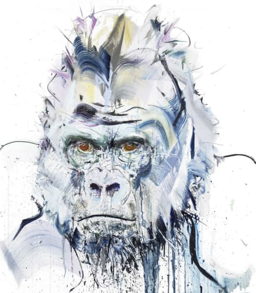 Paintings by Dave White seen at Private Residence - Silverback III