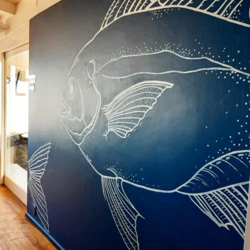 Murals by Live To Do This - Lindie seen at Big Blu Restaurant, Mossel Bay - BigBlu Galjoen Fish Mural