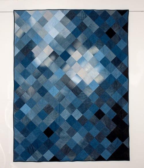 Wall Hangings by DaWitt seen at Daniela Witt Studio, Leipzig - Denim Quilt   Universe I