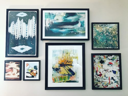 "Paintings by Jodi Fuchs seen at The Heathman Hotel, Portland - ""Free"" print"