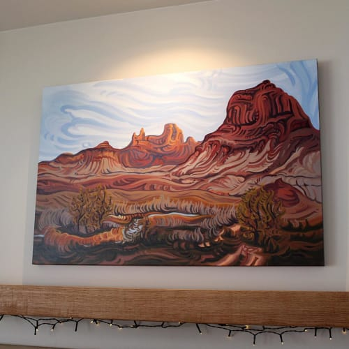 Paintings by Randi Ford seen at Private Residence, Grand Rapids - San Rafael Swell Memories