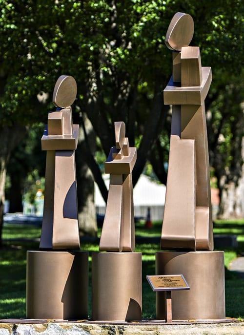Public Sculptures by Richard Warrington seen at Wenatchee Riverfront Park, Wenatchee - Sentinels