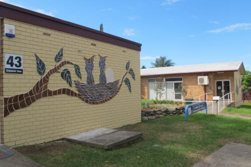 Murals by Diamando Koutsellis seen at Condell Park, Condell Park - Freedom and Nature by Nurture