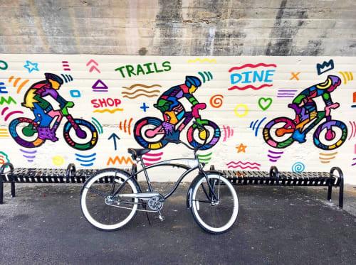 Street Murals by Alloyius Mcilwaine Art seen at Green Lane, Philadelphia - Happy Trails Mural