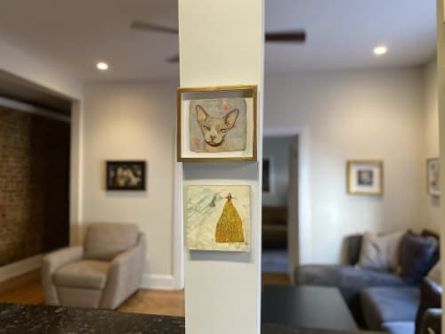 "Paintings by Sandra Mack-Valencia seen at Private Residence, New York - Family Tree painting ""Las Bedoyas"""