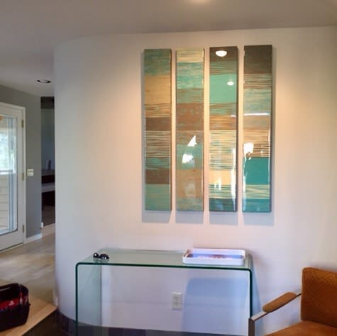 Paintings by Laura Hapka seen at Private Residence, San Francisco - Toasted Mackerel Sky