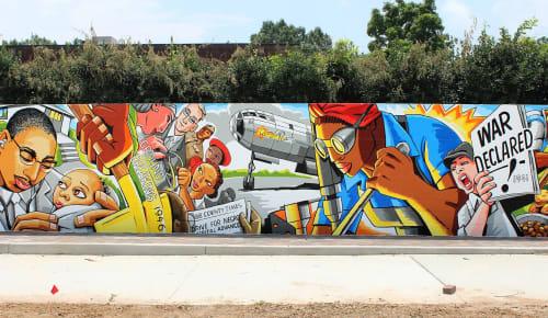 Street Murals by Andrew Reid SHEd seen at Elizabeth Porter Recreation, Marietta - Elizabeth Porter Park mural