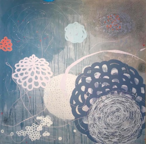 Paintings by Kate Zimmer Art seen at Private Residence, Hillsborough - Nest