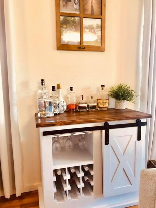 Amazing Farmhouse Bar Cabinet By Rivys Woodworks Seen At Private Home Interior And Landscaping Transignezvosmurscom