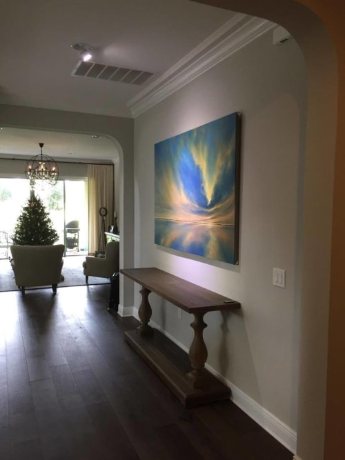 Paintings by Joanne Parent Art seen at Private Residence - Sky Spirit Commission