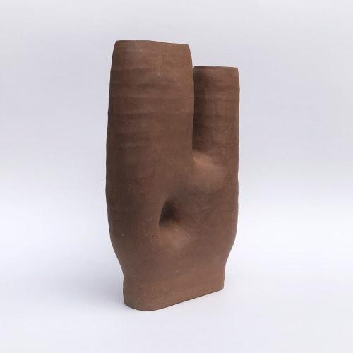 Vases & Vessels by Sunday Studio seen at Private Residence, Kerhonkson - Asymmetrical Ceramic Vase