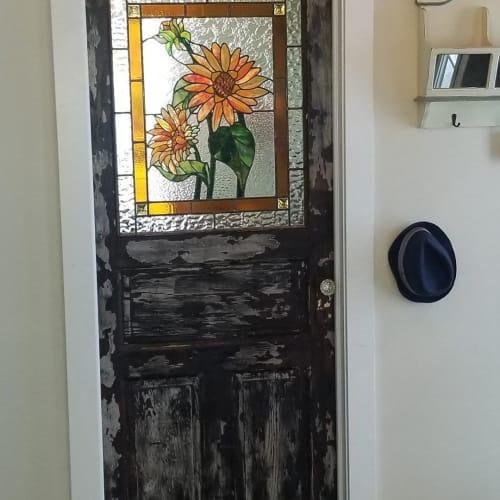 Sunflower window   Art & Wall Decor by Glass Act Studio