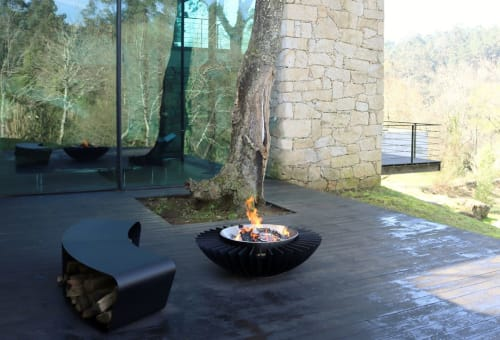Fireplaces by GlammFire seen at Private Residence, Monção - Cosmo 13 Wood