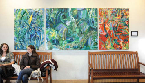 Paintings by Gretchen Grace Dreisbach - Artist seen at Como Park Zoo & Conservatory, Saint Paul - When The Earth Was Pure