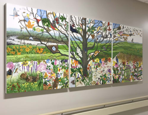 "Murals by Trena McNabb seen at Wake Forest Baptist Health - Wake Forest Baptist Medical Center, Winston-Salem - ""Life's Pathway"""