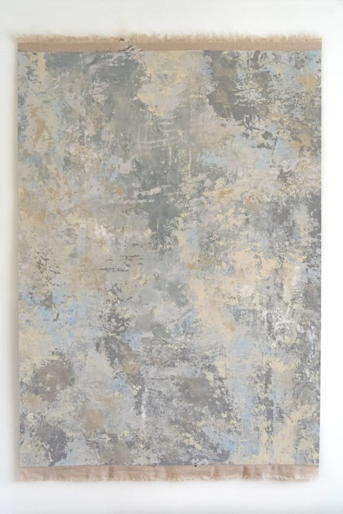 Wall Hangings by Vacarda Design seen at Private Residence, Belfast - Abstract Blue  Plaster Hanging