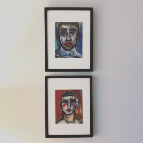 Paintings by Hugo Pérez Art seen at Private Residence, Houston - Portrait Paintings