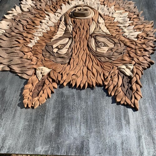 Sculptures by Meleah Gabhart Art seen at Forest & Ocean Gallery, Laguna Beach - Wolf
