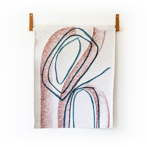 Wall Hangings by K'era Morgan seen at Creator's Studio, Los Angeles - Topographic 2