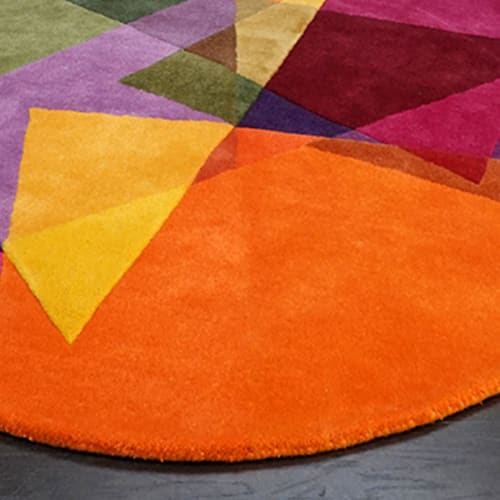 Rugs by Sonya Winner Rug Studio seen at Private Residence - Rosie Circular Rug