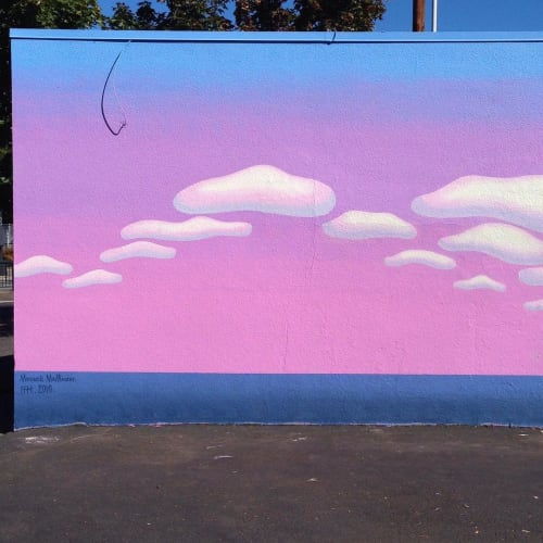 Street Murals by Maxwell McMaster seen at Disjecta, Portland - Exterior Mural