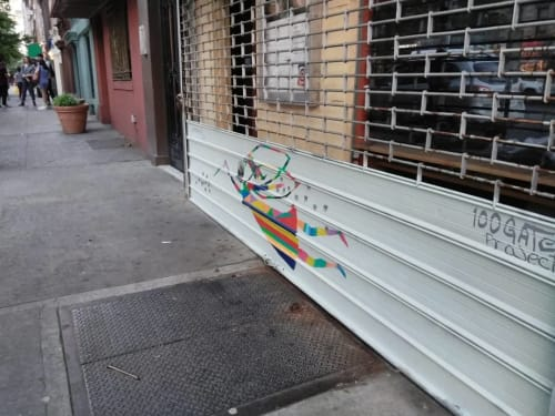 Street Murals by Hector Ledesma seen at 247 E 116th St, New York - Fairy Mural