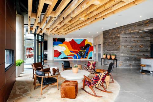 Murals by Chris Silva at Origin Hotel Red Rocks, Golden - Origin Red Rocks Hotel Lobby