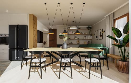 Interior Design by Beata Wyrzycka seen at Private Residence, Kraków - Eclectic private house design for a young couple