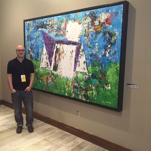Paintings by Shawn McNulty Art seen at U.S. Bank Stadium, Minneapolis - US Bank Stadium Paintings