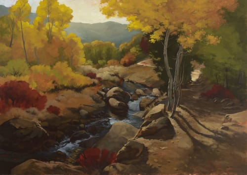Paintings by +David McCamant seen at Private Residence, Ashland - Thomas Creek Trail