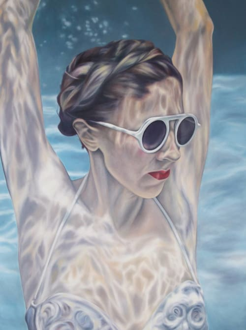 Paintings by Lucy Corwin seen at Private Residence, Asheville - Sister VI: Underwater Dreamin'