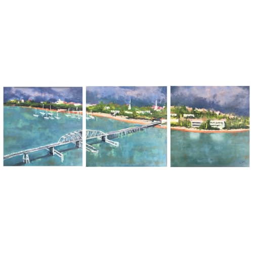 Paintings by Connie Rigdon seen at The HomesFinder Realty Group, Beaufort - Another Perspective